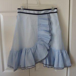 Anthropologie Ruffled Mini Skirt